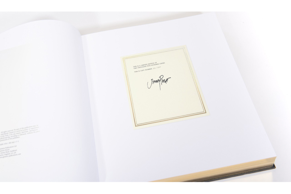 Jimmy Page Signature Page