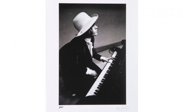 Blinds and Shutters Print Brian Jones Playing the Piano