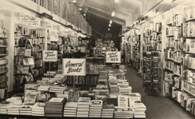 Hedley's Bookshop circa 1960