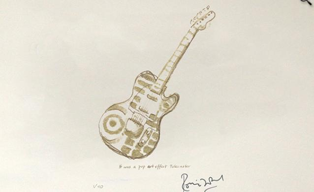 Pop Art Telecaster by Ronnie Wood